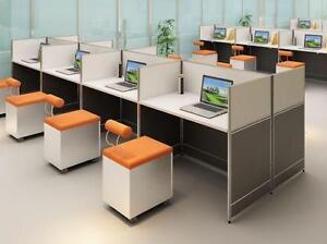 Modern 4ft Straight Workstation - BRAND NEW - Item #6398