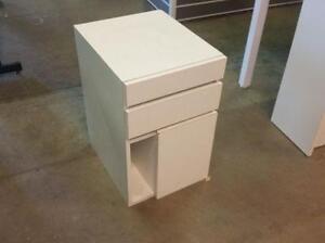 Wooden White Pedestal Cabinet ($25) - Item #6559