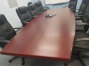 Avant Cherry 10ft Boat Shaped Boardroom Table ($495) - Item #7025