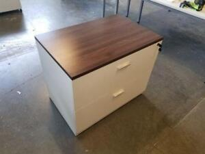 Classic Black Walnut Top 2 Drawer Lateral File Cabinet ($395) - Item #7540