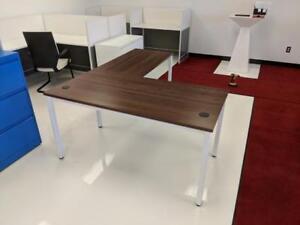 Modern Steel Frame L Shape Desks ($455.70 - $515.50) - Item #7421