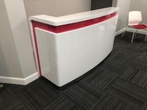 Ultra Hg   Modern High Gloss Reception Desk ($1,954.53) - Item #7714