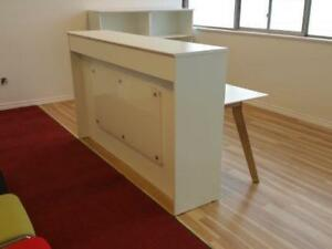 6ft Straight Reception Desk With Led Light ($1,020) - Item #7315