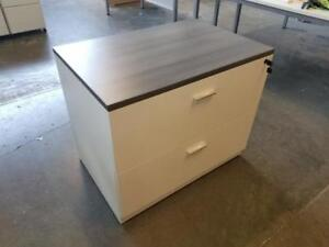 Classic Grey Top 2 Drawer Lateral File Cabinet ($395) - Item #7539