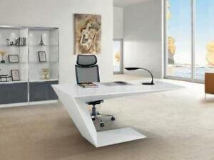 Ultra Hg   Modern High Gloss Cantilever Desk ($1,395) - Item #7448
