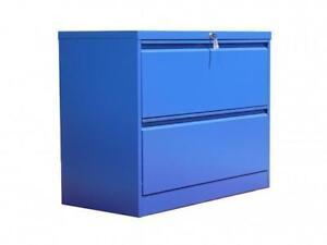 Professional Matt Blue 2 Drawer Lateral File Cabinet ($387) - Item #7145
