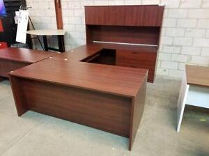 Avant Cherry U Shaped Desk ($325 - $650) - Item #6881