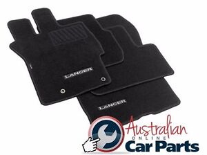 MITSUBISHI CJ LANCER Auto Floor Mats CARPET Brand New Genuine 2007-2017 BLACK