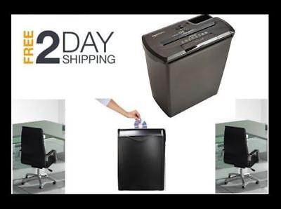 Cross Cut Paper Shredder Destroy Credit Card Heavy Duty Office Desk Business