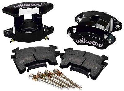 "WILWOOD D154 BRAKE CALIPER & PAD SET W/PINS,FRONT,1 PISTON,1.04"",BLACK,GM METRIC"