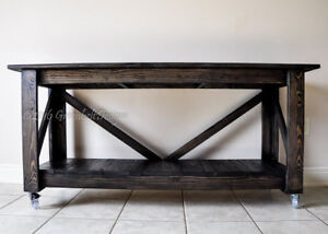 NEW INDUSTRIAL RECLAIMED WOOD ENTRY/CONSOLE/ISLAND/KITCHEN TABLE