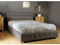 Kingsize Ottoman Storage Bed + Mattress (perfect condition, only 1 year old) Available 13th May