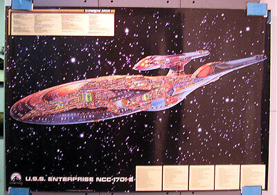 1701 E - Querschnitt Kunstdruck - Star Trek cutaway limited Edition new 70x100