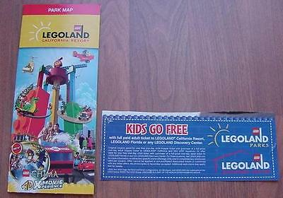One (1) Legoland KID KIDS CHILD Go Free California or Florida Good 12/31/2018