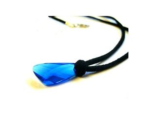 H2o necklace season 3. Blue Swarovski Crystal pendant. H20 Just add water locket