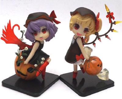2pcs/set Touhou Project Remilia & Flandre Scarlet Halloween PVC Figure No Box