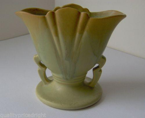Pottery Fan Vase Ebay