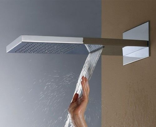 Luxurious 500 mm long Stainless Steel double function shower head (Rainfall +Waterfall)