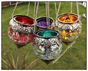 Tea Light Holders Hanging Glass