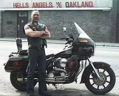 Hells Angels Boss Sonny Barger In Oakland California 8.5x11 Old Grainey Photo
