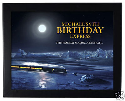 1 The Polar Express Movie Birthday Party Personalized 8x11 inch Wall Print - Polar Express Party Supplies