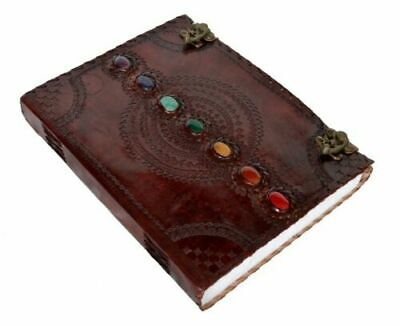 Seven Stone Chakra Embossed Leather Journal Notebook Diary Best Travel