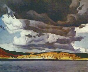 "A.J. Casson ""October Storm"" Lithograph - Appraised at $475"