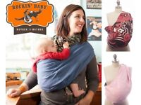Baby Carrier Pouch Sling Reversible Rockin' Baby Mother To Mother Rose Pattern New RRP£60