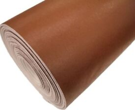 NEW Round Brown Table Top Protector Shield Thick Cover Heavy Duty Resistant 110cm & FREE table cloth