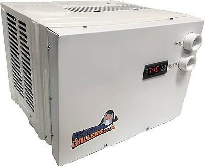 NEW 1/2 HP - AQUARIUM WATER CHILLER, SALTWATER CORAL TANK, HYDROPONICS