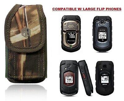 Premium Vertical Flip Phone Case DURA XV Camo , Insulin Pump Belt Pouch Holster