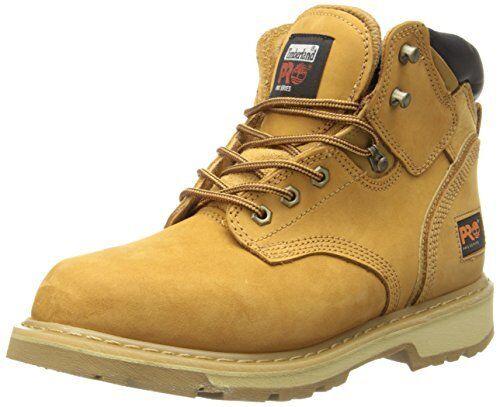 """Timberland PRO Men's Pitboss 6"""" Soft-Toe Boot,Wheat,10.5 W TB033030231"""