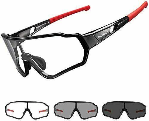 ROCKBROS Full Frame Photochromic Sunglasses Outdoor Cycling Glasses UV400