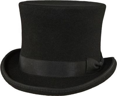 Zylinder Wollfilz premium Paul Wolle schwarz Gentleman Top hat Zylinderhut ()
