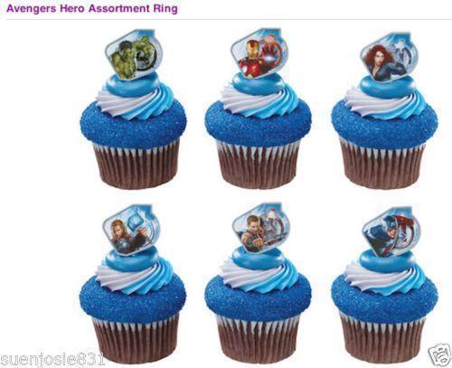 Superhero Cupcake Topper Rings