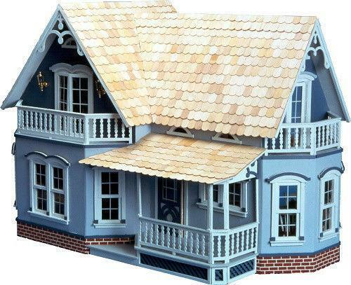 Farmhouse dollhouse kit ebay for Farmhouse kit homes