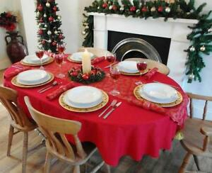 Delightful Oval Christmas Tablecloth