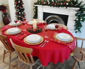 Oval Christmas Tablecloth