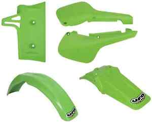 Ufo Kawasaki KX60 Plastic Kit Front & Rear Fender, Radiator Shroud, Side Panels
