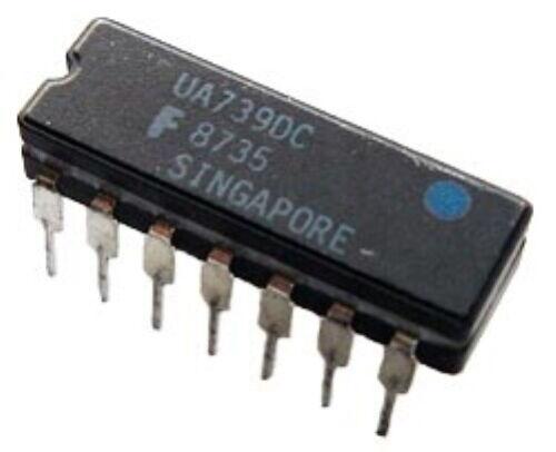 UA739 UA739DC Dual Audio Op Amp Ceramic IC Original Fairchild (1 pc)