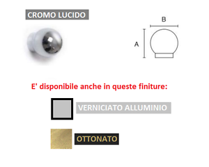Pomolo-in-ottone-tondo-finitura-verniciato-alluminio-ottonato-e-cromo-lucido