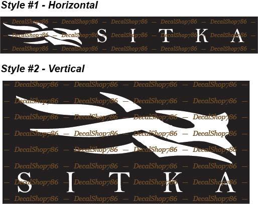 Home Decoration - Sitka Gear -Hunting & Outdoor Apparel & Gear- Vinyl Die-Cut Peel N' Stick Decals