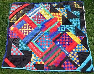 Quilt / Bedspread, Home Made, Titled Checkers (070)