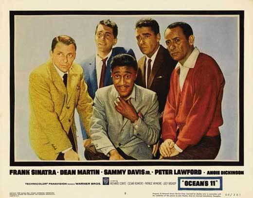 OCEANS 11 Movie POSTER 22x28 Half Sheet B Frank Sinatra Dean Martin Sammy Davis