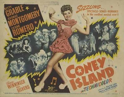 CONEY ISLAND Movie POSTER 22x28 Half Sheet Betty Grable George Montgomery Cesar