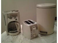Coffee mchine with timer, toaster, and bin