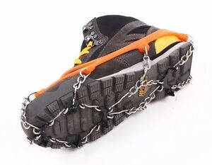 OUTDOOR SNOW ICE CRAMPON SPORT ROCK CLIMBING ANTI-SKID HIKING SHOES BOOTS SPIKE