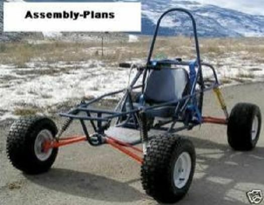 Dune Buggy Go Kart Cart Assembly Plans How to Build Homebuilt Project on CD-R