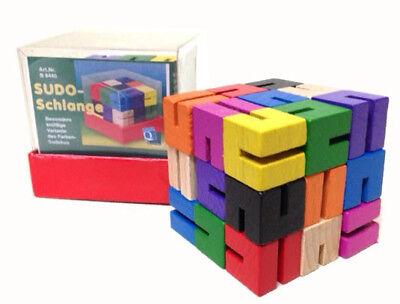 Sudo Schlange Spielzeug Farben Sudoku Rätsel Geduldsspiel Kinder Spielen Lernen