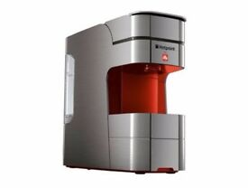 Hotpoint for Illy Coffee Maker in red along with 3 unopened tins of coffee